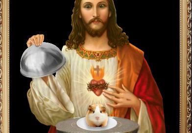 Jezus eet cavia